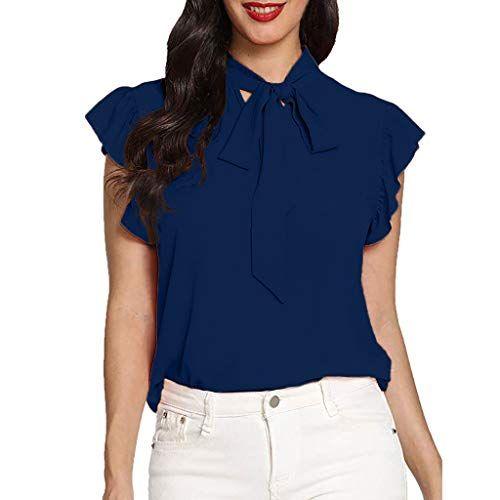 Women Office Ladies Summer Chiffon Short Sleeve Casual Shirt Tops Blouse T-Shirt