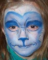 Monkey face makeup - photo#15