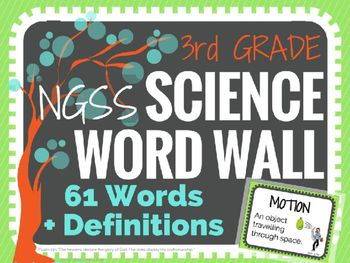 Science Word Wall (NGSS) - 3rd Grade - Vocabulary Cards