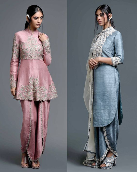 Indian Party Wear Shalwar Kameez Grey Outfit