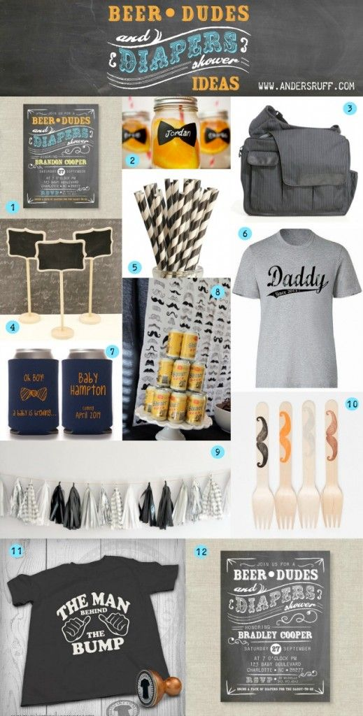 Beer Dudes and Diapers Party or Man Shower ideas for showering the daddy to be!: