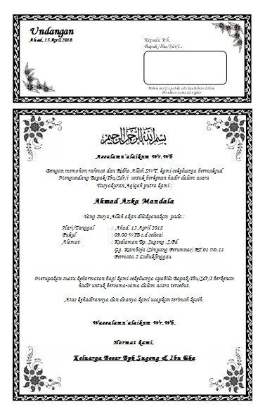 42++ Contoh surat undangan aqiqah yang bisa di edit terbaru terbaru