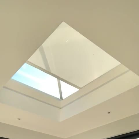 Transform Your Roof Lantern With Our Remote Control Roller Blind This Is An Effective Way To Cover Your Roof In 2020 Roof Lantern Skylight Design Glass Roof Extension