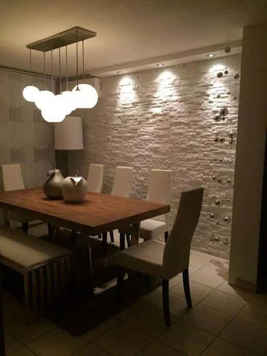 13 Idee Per Rendere Le Pareti Belle Ed Eleganti Con La Pietra Homify Arredamento Sala Da Pranzo Arredamento Sala Arredamento Moderno Soggiorno