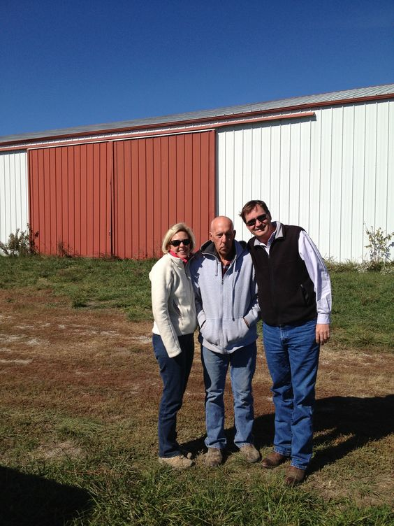 My dear friend Bob with Lauren and I at farm