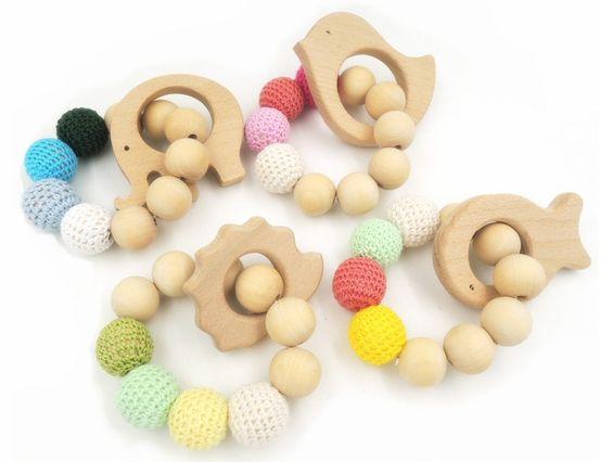Aro - Anilla de madera para decorar a crochet, pintar...