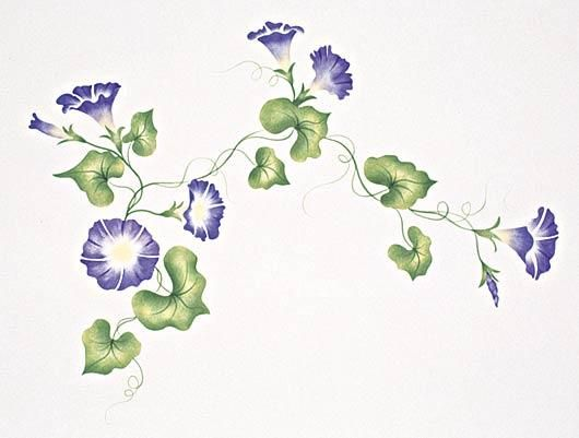 401 Heavenly Morning Glory Stencil Flower Drawing Morning Glory Tattoo Morning Glory Flowers