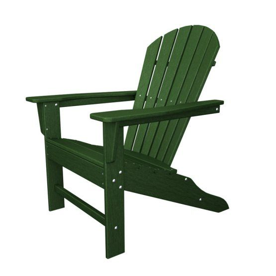 Polywood South Beach Recycled Plastic Adirondack Chair Plastic