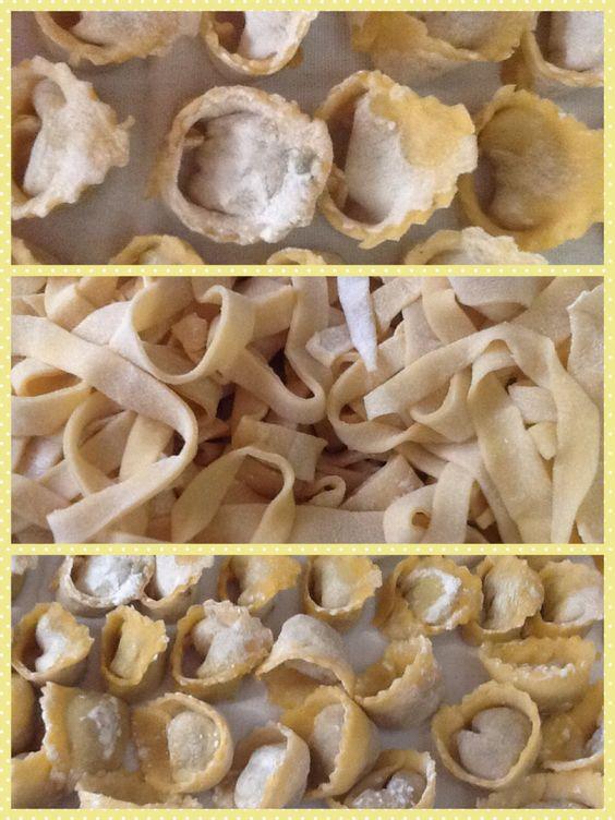 Massa de macarrão à base de ovos feita em casa. Home made Pasta