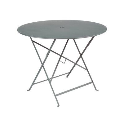 Fermob Bistro Round Folding Table Color Storm Gray Size 29 H X