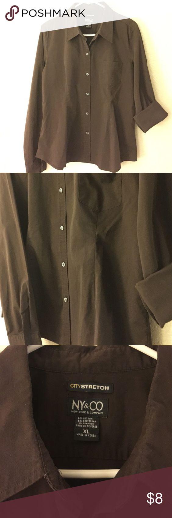 Dark brown nyuco dress shirt dress shirts button down shirt and