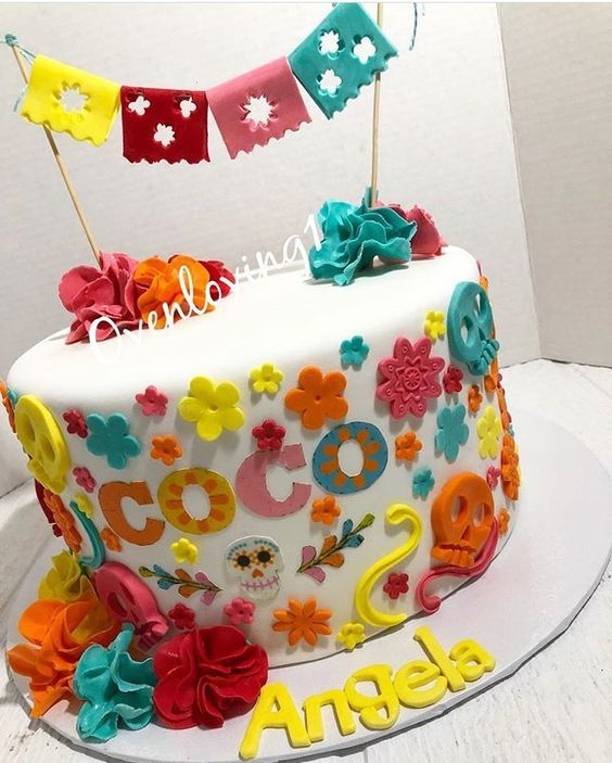 Pastel Para Fiesta De Coco Disney Cumple Gabriellita En
