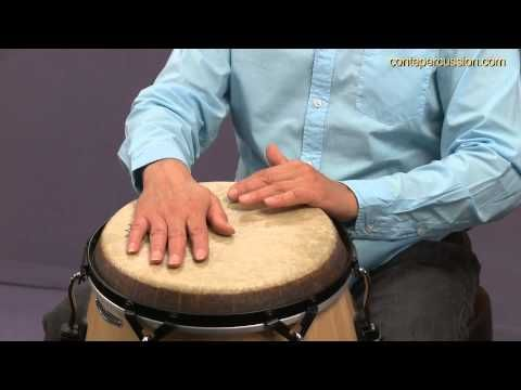 How to play Congas - Different Percussion Sounds .... Learn how to ...