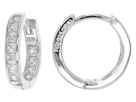 Cubic Zirconia Rhodium Over Sterling Silver Earrings 1 75ctw Bmc210 In 2020 Silver Earrings Jewelry Oxidised Silver Jewelry