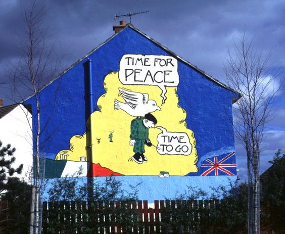 The times ireland and irish on pinterest for Mural in belfast