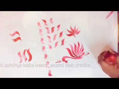Free Hand Fabric Painting Basic Lessons 5 Free Hand Painting