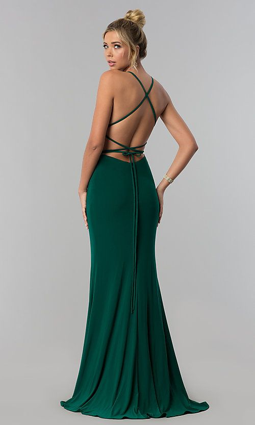 Open-Back Long Prom Dress by Alyce