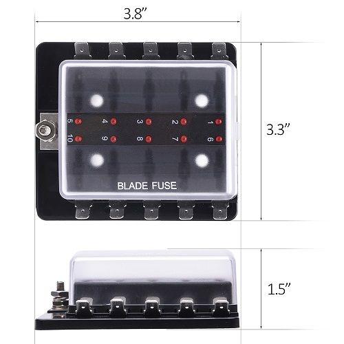 • the world s catalog of ideas 32v 100a 10 way blade fuse block holder terminals circuit auto car fuse box w