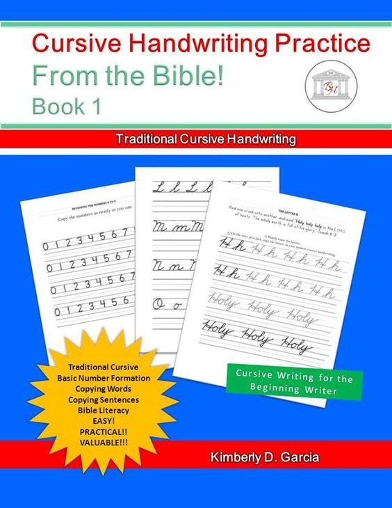 Cursive Handwriting Practice from the Bible for Beginners ...