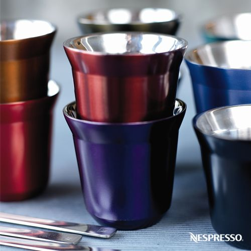 Add to your coffee collection with our stainless steel  -> Nespresso Espresso Cups