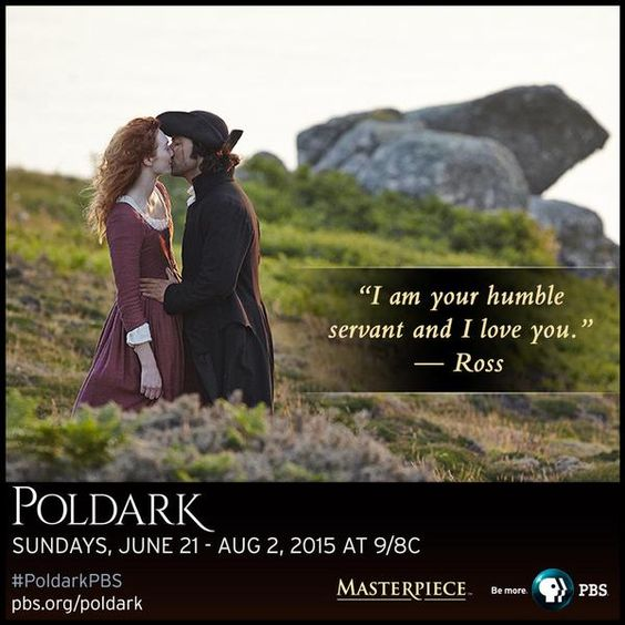 """You've redeemed me. I am your humble servant and I love you."" -Ross #Poldark to Demelza on #PoldarkPBS! #TeamDemelza"
