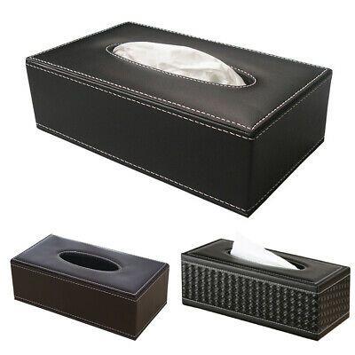PU Leather Tissue Box Cover Napkin Paper Storage Dispenser Holder Home Organize