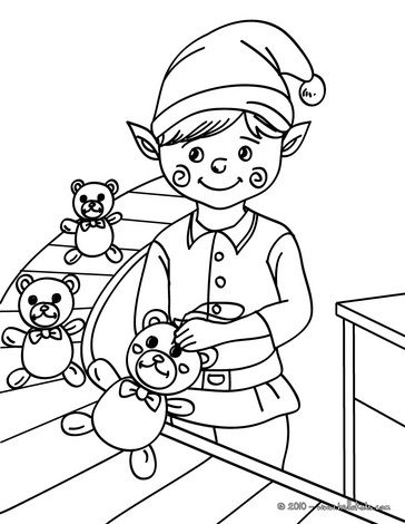 toy assemby line coloring pages - photo#1