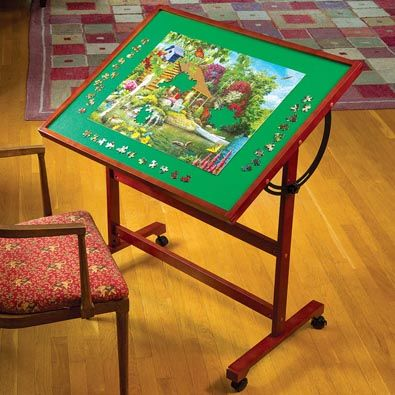 Adjustable Jigsaw Puzzle Table Create Your Own Custom Comfort With Our Innovative Puzzle Table Puzzle Table Puzzle Storage Jigsaw Puzzle Table
