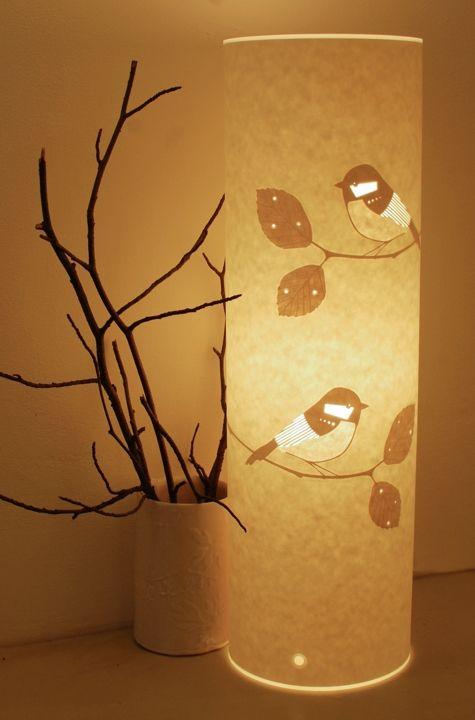 Handmade Lamp Shades Design: Paper cut lampshade - lovely,Lighting