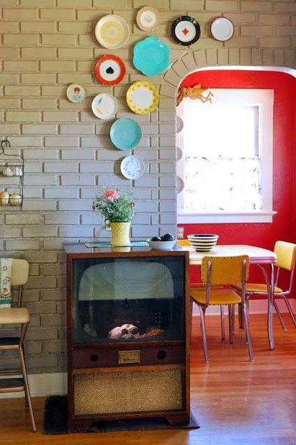 Carinho e casa: Pratos decorativos na parede: