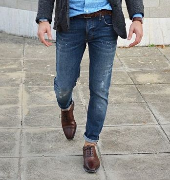 3. Sharp Dress Shoes and Casual Denim
