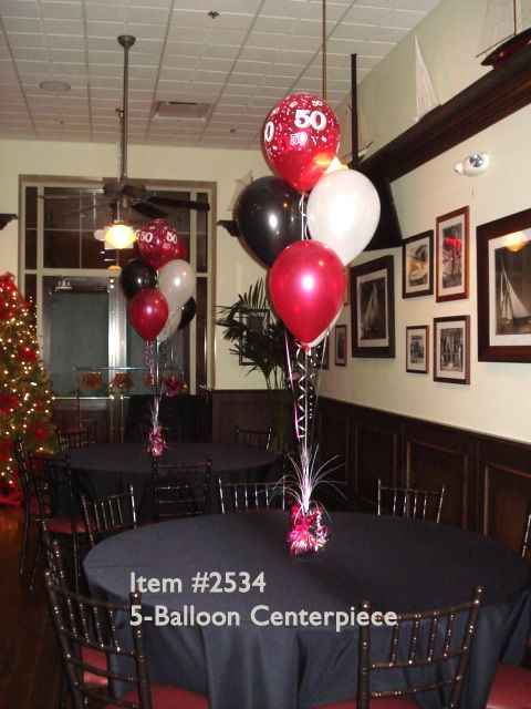 Helium filled balloon decoration Centerpieces Pinterest