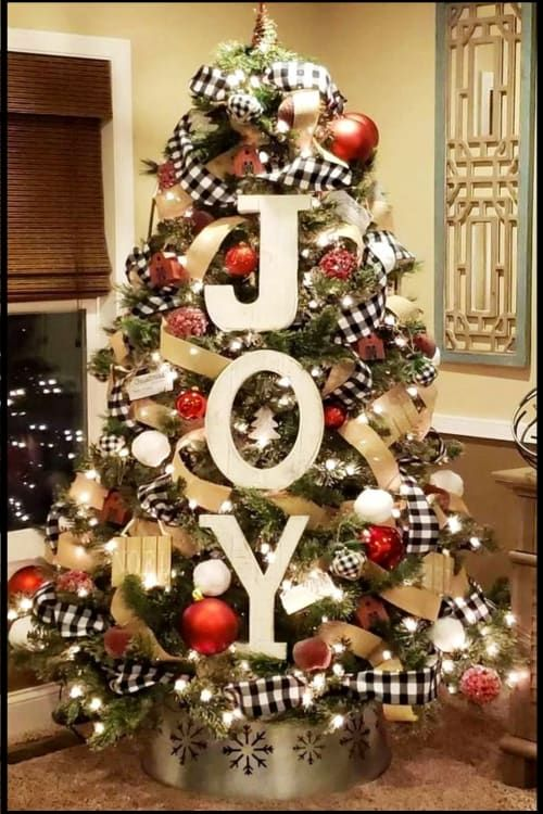 Diy Farmhouse Christmas Decor And Country Style Christmas Decorations For Your Home Cool Christmas Trees Christmas Tree Decorations Diy Xmas Tree Decorations