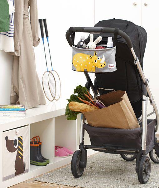 Kinderwagentasche Nashorn auf www.mina-lola.com