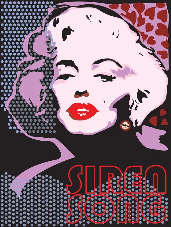 Marilyn Monroe - Siren Song  by Mofo Illustration