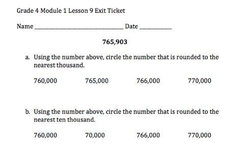 Grade  Module  Lesson  Exit Ticket  Grade  Eureka Math