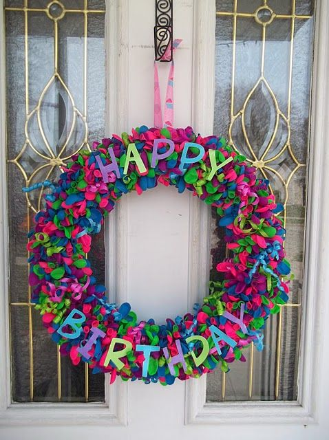 Birthday Wreath~ would be cute to put up when family member has a birthday :-)