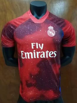 reputable site 7be98 61b7e 2018-19 Cheap Jersey Real Madrid EA Red Replica Soccer Shirt ...