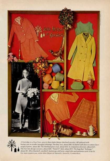 meyer norwich clothing 60s influence 1965