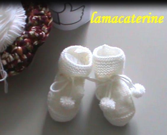 Videos y tuto .Punto de media: Cómo hacer unos patucos o botitas para bebé   Manualidades