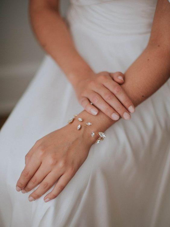 Braut Armband im Boho Glam Stil fuer die Hochzeit