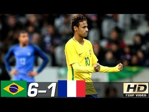 Brazil Vs France 6 1 All Goals Extended Highlights Resume Goles Last Matches Hd Https Besthighlights Club Brazil Vs Franc Neymar Germany Vs Leo Messi
