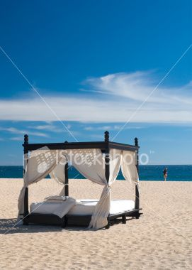 Cabana on the Beach Royalty Free Stock Photo