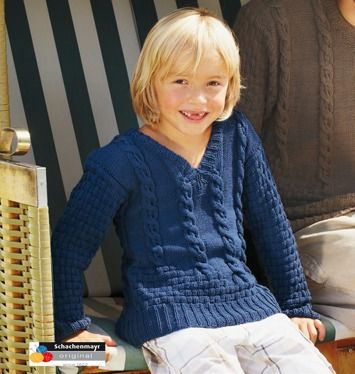 Anleitung für Jungs-Pullover /Pullover für Kinder. Gratis Anleitung für Catania Wolle  free pattern german pullover for boys / kids