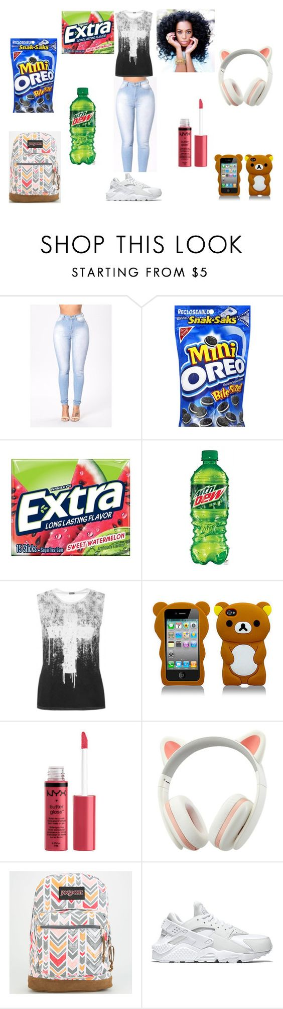 """""""Back To School"""" by gigibaby7 ❤ liked on Polyvore featuring JanSport and NIKE"""