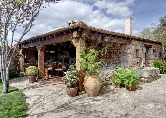 Modelos de cabanas e casa de campo rusticas pesquisa google cocinas pinterest caba a - Casas de campo restauradas ...