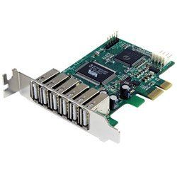 7 Port PCIe Low Profile USB 2.0 Adapter Card by StarTech. $54.33. The PEXUSB7LP Low Profile PCIe USB 2.0 Adapter Card offers a cost-effective way to add seven USB 2.0 ports to a small form factor puter for enhanced versatility and performancePrimary InformationNetworking Type:Express CardForm Factor:Plug-in cardNetworking Interface:USB 2.0; PCI ExpressNetworking / Ports Qty:7Data Transfer Rate:480 MbpsData Link Protocol:TBD