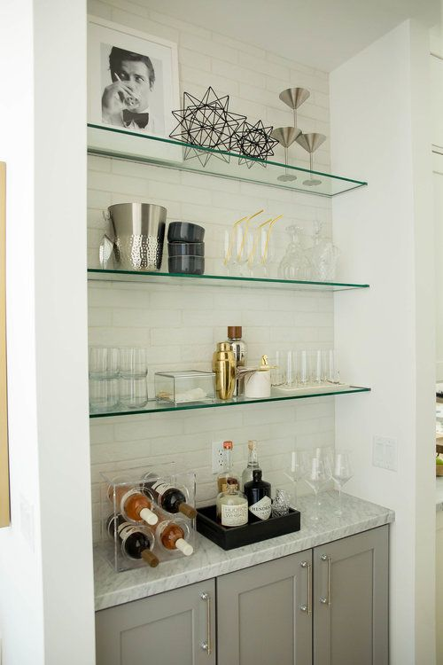 Glass Shelves Marble Counter Home Bar The Lifestyled Company