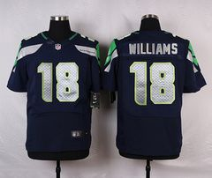 Cheap NFL Jerseys Online - Nike Seattle Seahawks #18 Kasen Williams Blue Elite Jersey ...