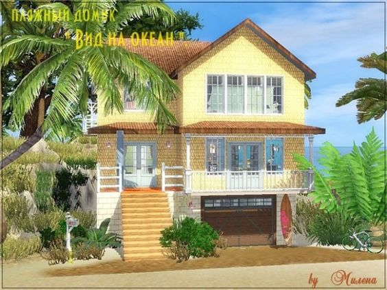 The sims 3 beach house images for Beach house plans sims 3